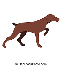 hund, jagt, ikon