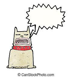 hund, karikatur, bellen