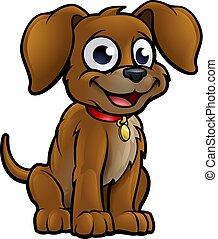 hund, karikatur