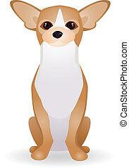 hund, karikatur, sammlung