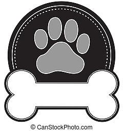 hund, Knochen, Pfote