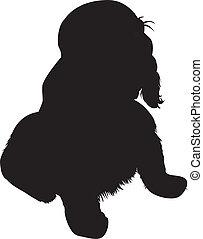hund, silhouette