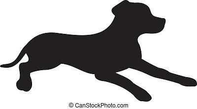 hund, silhouette, vektor
