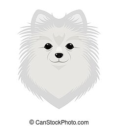hund, symbol, rasse, web., stil, abbildung, ledig, vektor,...