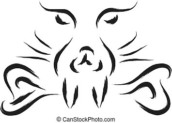 hund, unheimlicher , wild
