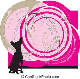 hund, vektor, abbildung