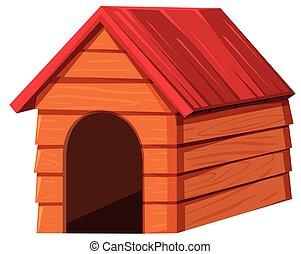 hundehütte, rotes , dach