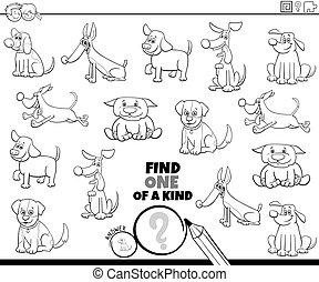 hunden, seite, spiel, farbe, eins, art, buch