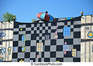 hundertwasser, chauffage, district, plan