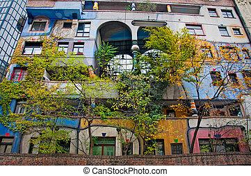 Hundertwasser House. Austria, Vienna