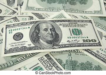 hundra, lagförslaget, dollar, hög, en