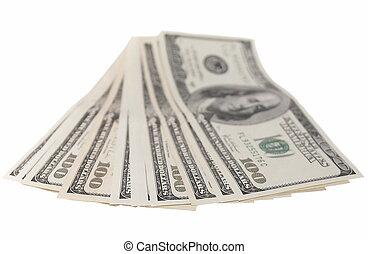 hundra, lagförslaget, dollar, stack, en