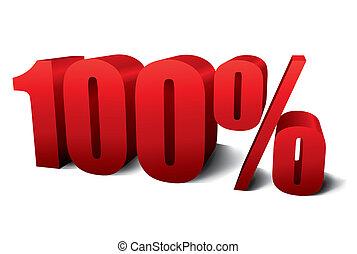 hundra, procent, en