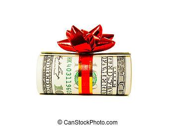 hundra, tuss, dollar, uppe, oss, en, bundet, lagförslaget, band, röd