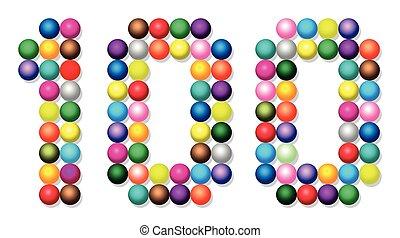 Hundred Balls Dots Points White