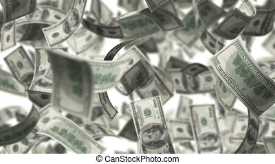 Hundred Bucks - Rotation on white background