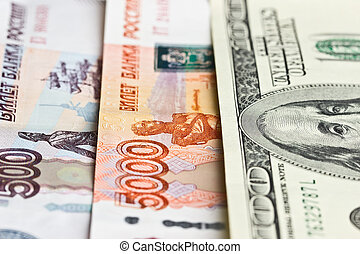 Hundred dollars, five thousand and five hundred rubles