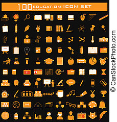 Hundred Education Icon Set