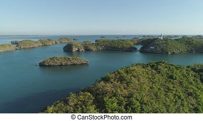 Hundred Islands National Park. Philippines - Small islands...