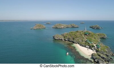 Hundred Islands National Park.Philippines - Aerial view of...