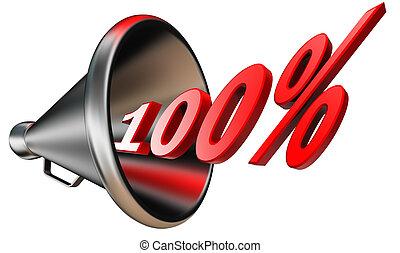 hundred per cent red symbol