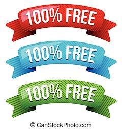 Hundred percent free ribbon set