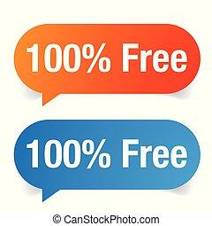 Hundred percent free set vector