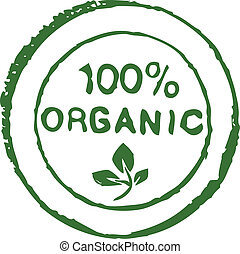 Hundred percent organic ink stamp - Hundred percent organic...