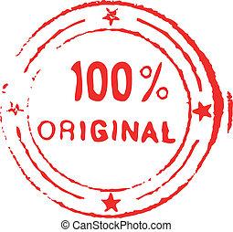 Hundred percent original ink stamp