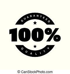 Hundred percent quality stamp sign vector