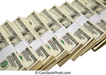 hundred thousands - the hundred thousands US dollars heap...