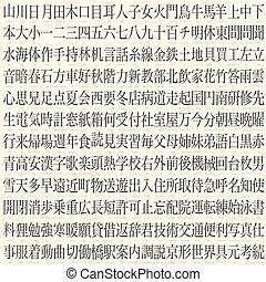 hundreds of kanji with translations - hundreds of vector...