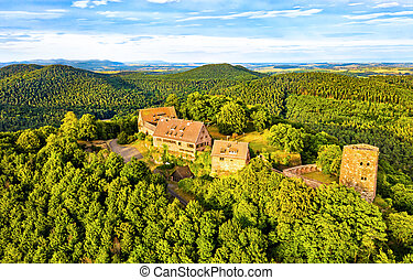 Hunebourg Castle in the Vosges Mountains - Bas-Rhin, Alsace, France
