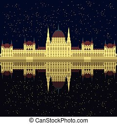 Hungarian City sight. Hungary Landmark Travel And Journey...