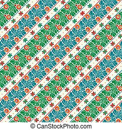 Hungarian embroidery pattern 19 - Seamless pattern design ...