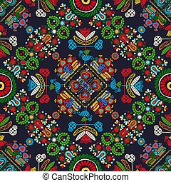 Hungarian embroidery pattern 23 - Seamless pattern design ...