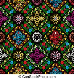 Hungarian embroidery pattern 26 - Seamless pattern design ...