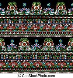 Hungarian embroidery pattern - Seamless pattern design...