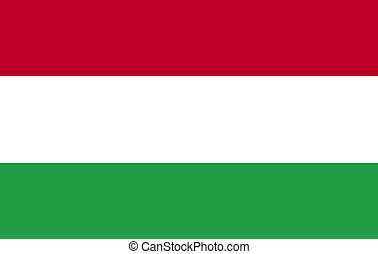 Hungarian Flag 3d render