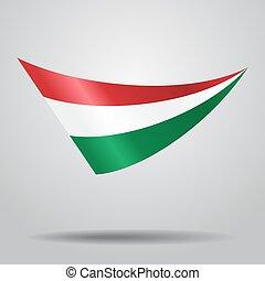 Hungarian flag background. Vector illustration.