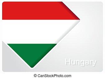 Hungarian flag design background. Vector illustration. -...