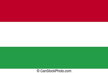 Hungarian Flag 3d render