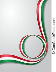 Hungarian flag wavy background. Vector illustration. -...