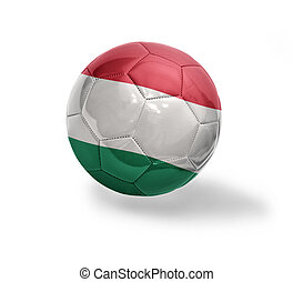 Hungarian Football - Football ball with the national flag of...