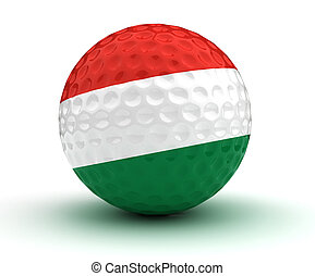 Hungarian Golf Ball (Isolated with clipping path)