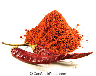 Magyar (Hungarian) paprika - dried peppers and powder