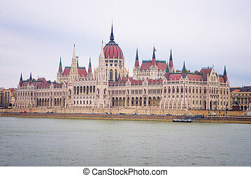 Hungarian Parliament Building in Budapest in Hungary
