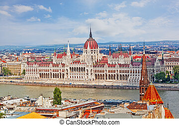 Hungarian Parliament Building is the seat of the National...