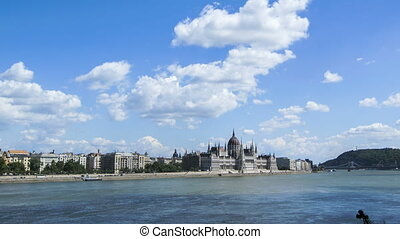 Hungarian parliament - Time lapse of the Hungarian...