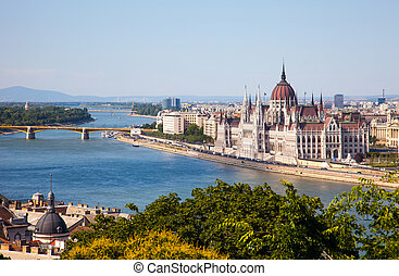 Hungarian Parliament in a sunny day